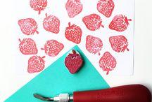 Paprika Paper Goods on Etsy / Handmade Postcards, Handprints, Carving Rubberstamps