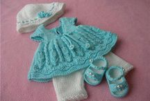 knitted baby dresses