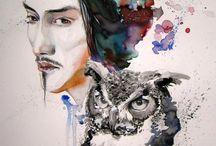 watercolor, ecoline, pen on paper / illustration