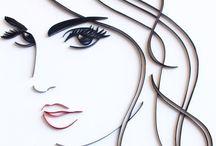 Portret z farebnych papierikov