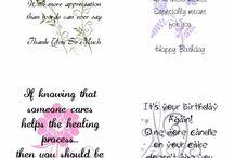 Card Sentiments & Printables