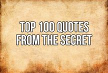 A list of THE SECRET'S TOP 100 QUOTES
