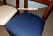 """Before-After chair photos using the SmartSeat Chair Protector / The SmartSeat is a great way to discreetly protect your upholstered chairs.  You also can use our seat covers to inexpensively spruce up a """"well-loved"""" chair.  Here are some customer photos of the SmartSeat Chair Protector in use!"""