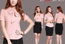 Jual Blouse Kerja Wanita / Warna kulit putih cocok pakai warna apapun termasuk warna pastel. Jual blouse kerja wanita Tanya stock di PIN BB 7d20d94c