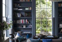 Home interior : blue