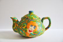 Tea pots / Tea pots made of polymer clay