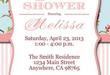 baby shower vintage floral theme