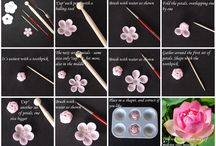 Clay flowers, how to