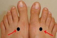 akupunkturás pontok