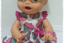 vestido de boneca baby alive