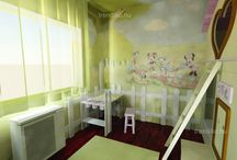 Minnie mouse girl's bedroom / Girl's bedroom. Little house for girls.
