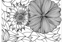 Celebrations coloring pages for adults (for Greeting cards) / Create your own Greeting cards to celebrate Mother's day, Grandparents Day, Valentine's Day, or just Birthdays !