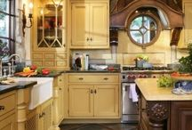 KITCHEN LUV / I love kitchens. I believe they reveal the true personality of the cook of the house! Hopefully, my cooking is as tasteful as the décor of my kitchen! / by Desiree Aaron