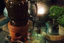 Thuis / Home, green, plants. thuis, groen, planten, thee, grijs, grey, tea