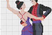 pary tanczace haft