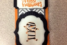 MY HALLOWEEN CANDY BAR HOLDERS / Stampin Up inspired Halloween cardy bar holders 2012. / by Barbara Charles