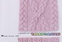 Punti maglia / Vari stili di greche a maglia