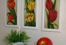 Pintura em tela flores
