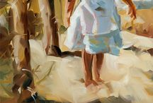 Zee en strand schilderijen