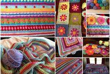 Sampler crochet afghans