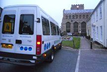 Bury St Edmunds / Our minibus in Bury St Edmunds.