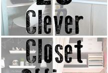 Closet Office!! / Converting a closet to an office, and closet makeovers! / by Rebecca Rider