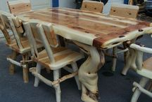 Hand Crafted Log Furniture / by David Bryant