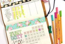 journal with washi tape
