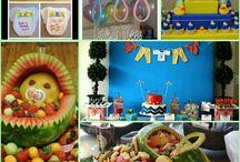 Chá de bebê ideias variadas / Bolos de fraldas ,decorações ,ideias juntas ...