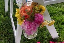 Wedding Aisle / Creative ways to mark wedding aisle and pathways