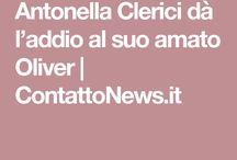 Antonella Clerici dà l'addio al suo amato Oliver
