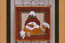 Quilty Snowmen / If we had it our way, it would be snowman season all the time! Here are some of our favorite sewn snowmen.