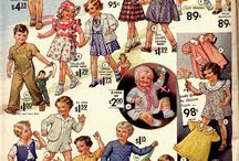 Clothing from Infants to Teens and Juniors / Old, Vintage, Retro illustrations, sewing patterns