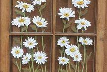 Painted Window Panes