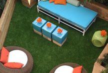 Patio Garden ideas / Artificial grass ideas