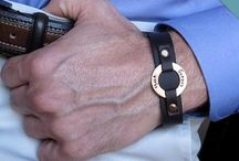 Personalized Mens Bracelets / Exclusive and Custom Engraved Leather Bracelets for Men!