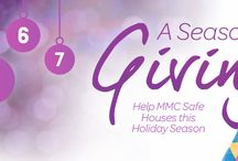 Season of Giving / This Holiday season, we are holding an advent calendar style, Days of Giving. There are several items that we are in desperate need of in our safe houses! Hop on over to our Amazon Wish List for ideas of great gifts that we could really use in the winter months! http://amzn.to/1w6kNCQ