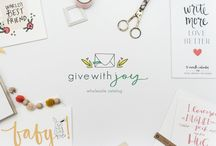 T H E  S H O P | give with joy / For the celebrations and simple moments of life, give with joy designs cards, invitations, journals, calendars, and wall prints that will be displayed and treasured for years. We create meaningful, hand lettered messages, laced with truth and beauty, that you can send into your world with joy!