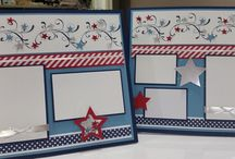 4th of July scrapbook pages