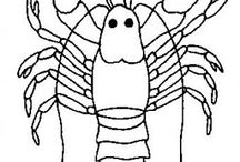 Crabs coloring book / Crabs coloring pages