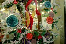 window painting christmas