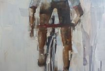 Nicole Pletts paintings - Cyclists