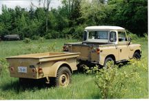Land Rover Series III / The Land Rover Series I, II, and III are off-road vehicles produced by the British manufacturer Land Rover. Series models feature leaf-sprung suspension with selectable two or four-wheel drive (4WD); though the Stage 1 V8 version of the Series III featured permanent 4WD. All three models could be started with a front hand crank and had the option of a rear power takeoff for accessories.