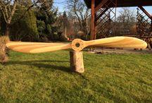 Single wooden propellers, interior design