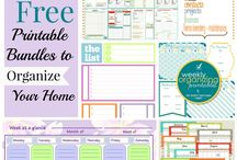 Organizing Printables-FREE / Ideas and inspiration to organize your home on a budget. Decorate and declutter your home on a budget. FREE Organizing Printables.