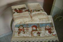 toallas de navidad