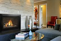 Valor Fireplaces - H5 Series / The H5 continues the Horizon tradition with a diverse fireplace, blending distinct, quality materials with the latest in radiant and convective heat technology.  Flexible venting options and slim engine depth position the H5 as a versatile fireplace upgrade, ideal for existing home renovations and new construction. The H5 combines compact design with a generous viewing area, highlighting a collection of ambient fires and glowing embers within. / by Valor Fireplaces