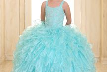 Embellished Bodice Girls Pageant Dress Ruffled Skirt / This long length girls pageant gown is the perfect dress for your little girl's fancy special occasion. This  girls pageant dress features a fully lined, ruffled organza long length skirt. The bodice features an embellished design. A matching organza bolero jacket is included