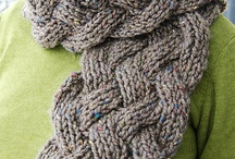 Женские шарфы / Вязание на спицах
