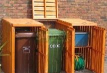 Disguising Garbage Cans / A collection of #garbage cans, you won't believe are actually #garbage cans!! #landscaping